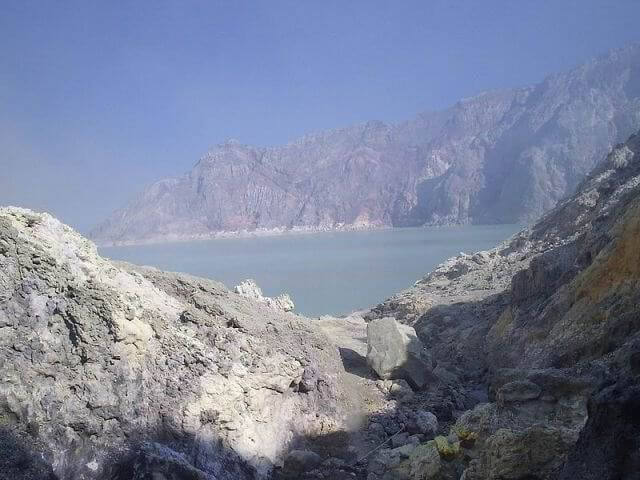 Ijen Crater in East java